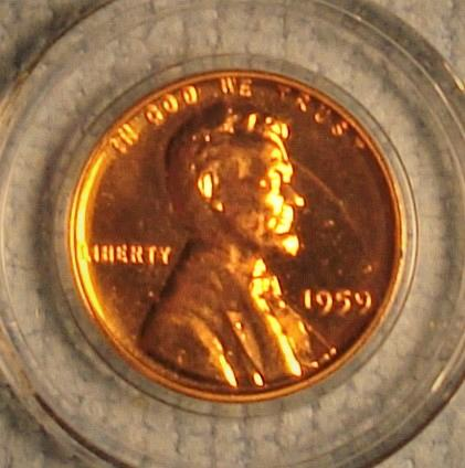 1959 P Lincoln Memorial Cent Small Cent Proof