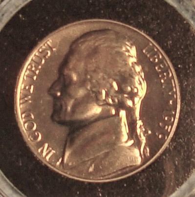 1959 P Jefferson Nickel Proof