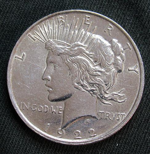 1922 P Peace Silver Dollar