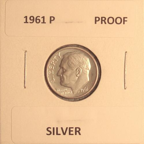 1961 P Roosevelt Dime Proof