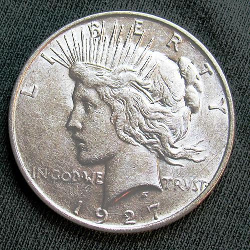1927 D Peace Silver Dollar