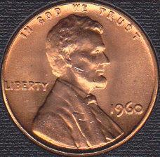 1960 P Lincoln Memorial Cent