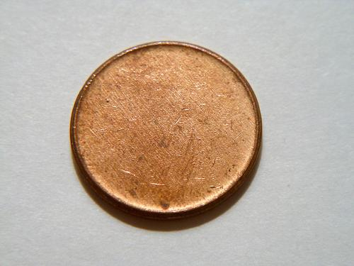 Nice Blank Copper Planchet Lincoln Cent Error Coin
