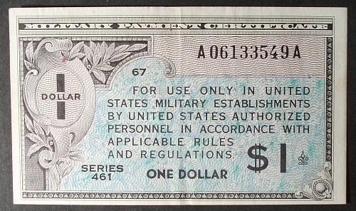 US MPC Series 461 Dollar XF, M5