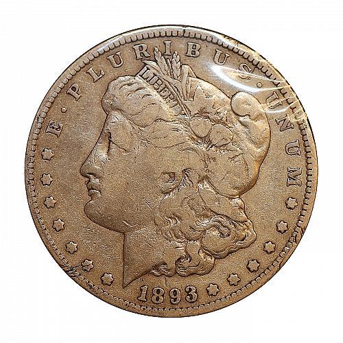 1893 CC $1 Morgan Silver Dollar - F / Fine