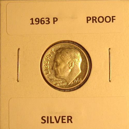 1963 P Roosevelt Dime Proof
