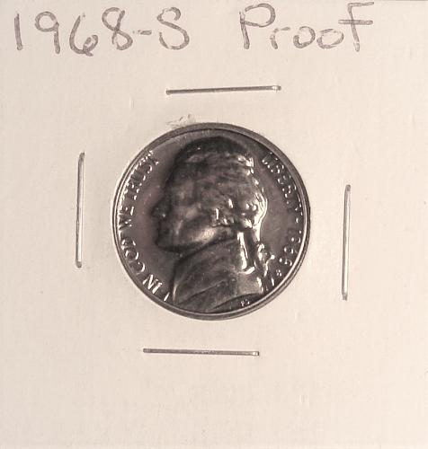 1968 S Jefferson Nickel Proof