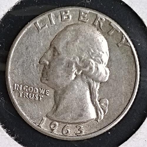 1963 P Washington Quarter Dollar - 6 Photos!