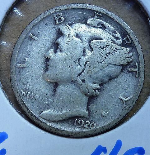 1920-S Mercury Dime Very Fine  ( 409 )