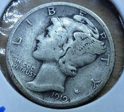 1919-S Mercury Dime Very Fine  ( 406)