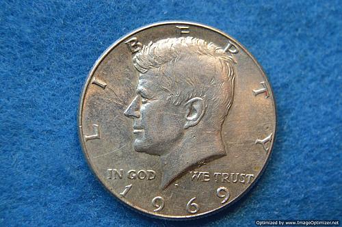 1969 D Kennedy Half Dollars 40% Silver