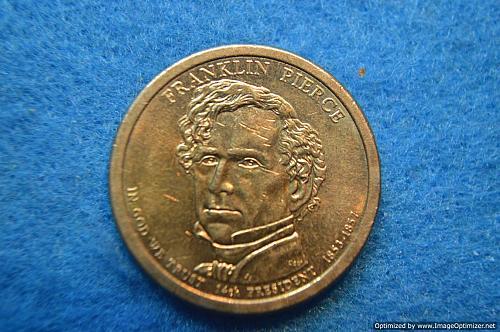 2010 D Presidential Dollars: Franklin Pierce