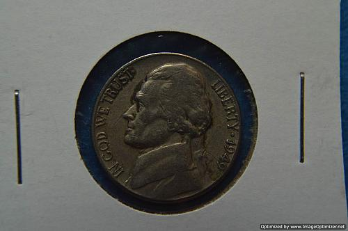 1949 P Jefferson Nickels