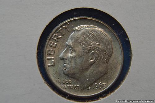 1963 D Roosevelt Dime Great Details