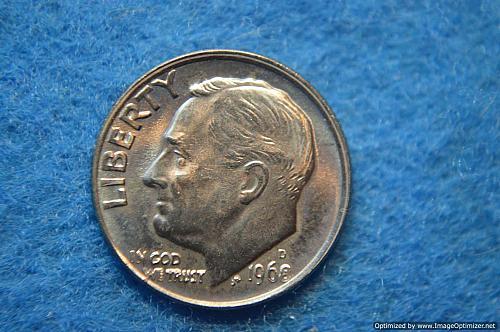 1968 D Roosevelt Dimes Great Details