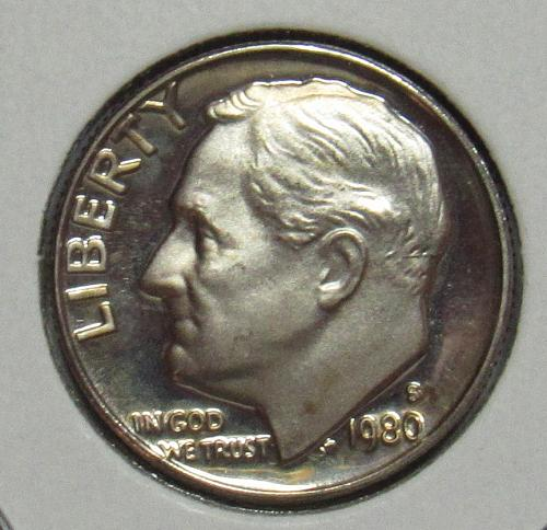 1980 S Proof Roosevelt Dime