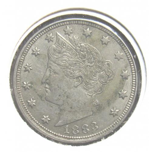 1883 Liberty Nickel, No Cents