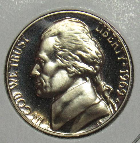 1969 S Proof Jefferson Nickel