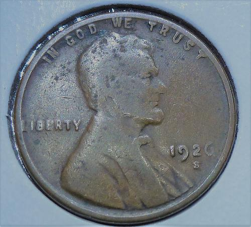 1926-S Good Lincoln Wheat Cent  G ( 806)