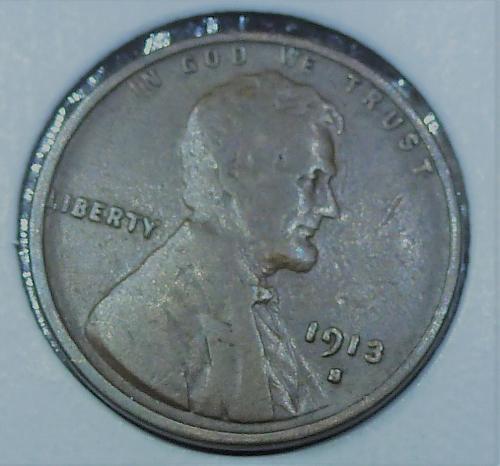 1913-S FINE Lincoln Wheat Cent  F ( 818)
