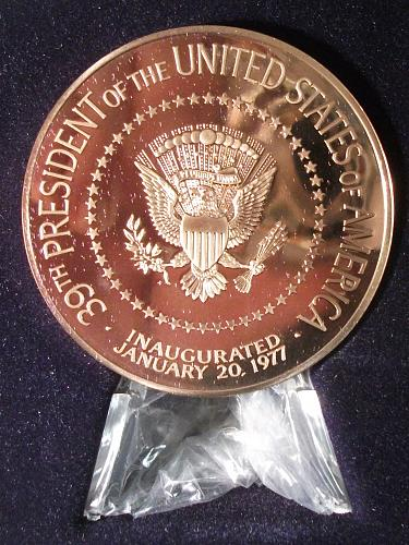 1977 Jimmy Carter Bronze Official  Inaugural Medal