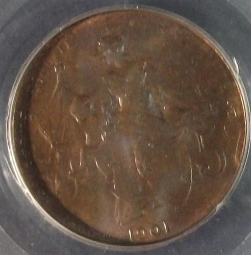 1901-C France 5 Centimes SEGS MS-63 Brown