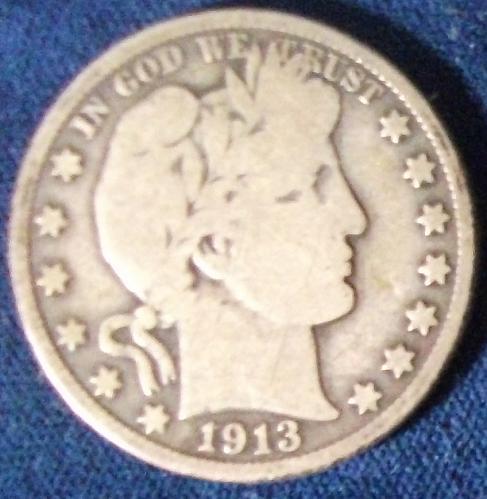 1913 Barber Half Dollar Good