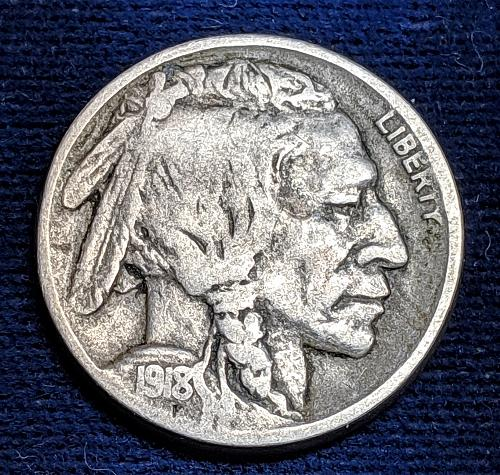1918D VERY GOOD BUFFALO NICKEL