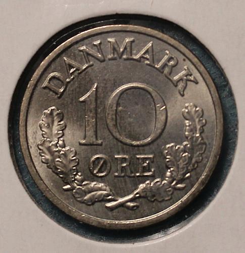 Denmark 1964 10 ore