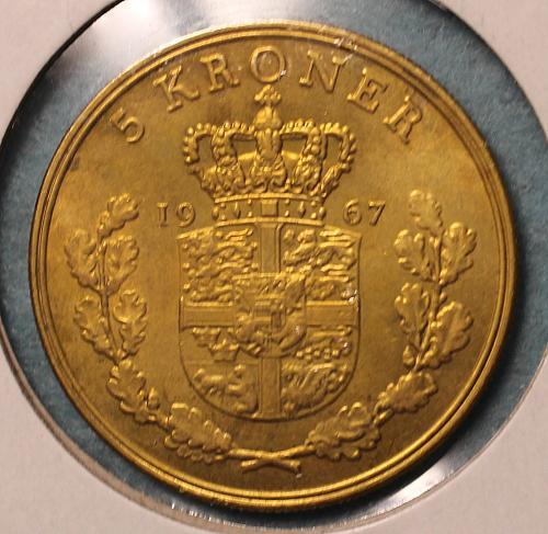Denmark 1967 5 Kroner