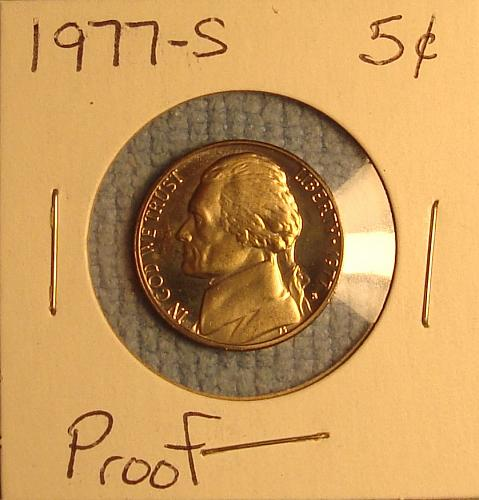 1977 S Jefferson Nickel Proof