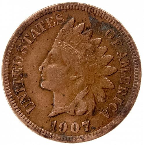 1907 Indian Head Cent #30