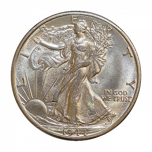 Superb - 1944 D Walking Liberty Half Dollar - Gem BU / MS / UNC - High Grade Coi