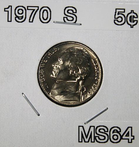 1970 S Jefferson Nickel