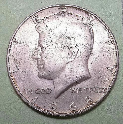 1968 D Kennedy Half Dollar Lot JKHdU