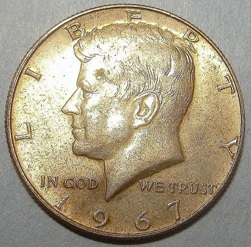 1967 P Kennedy Half Dollar Lot JKHPw