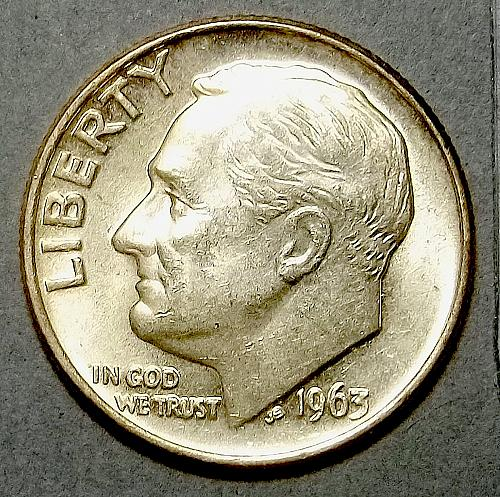 1963 P Roosevelt Dime Lot RsVmss