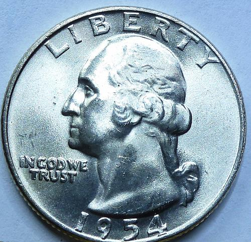 1954-D Brilliant Uncirculated Washington Quarter BU  # 768