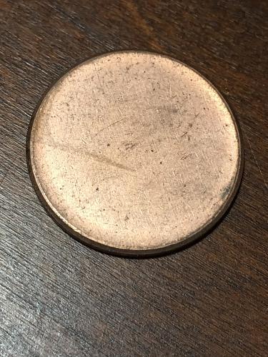 Blank Penny Planchet mint Error Coin Item 0219010