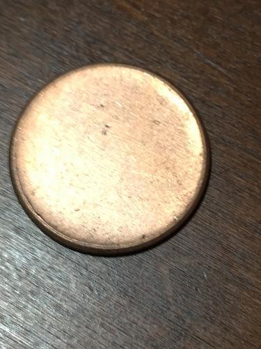 Blank Penny Planchet mint Error Coin Item 0219011