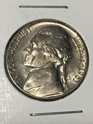 1963 D Jefferson Nickel Item 0219028