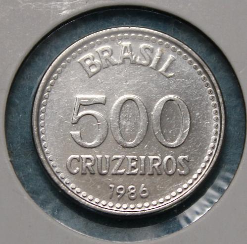 Brazil 1986 500 Cruzeiros