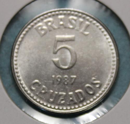 Brazil 1987 5 Cruzados