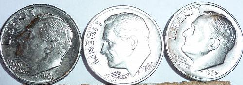 1966-P SMS Special MInt SET Gem BU Roosevelt Dime ( 400 )