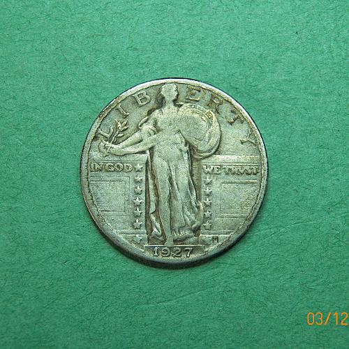 1927 P Standing Liberty Quarter Fine Coin   k90