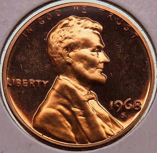 1968S Lincoln Memorial Cent #2 CAMEO PROOF