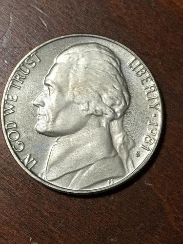 1981 S Jefferson Nickel Item 0219116