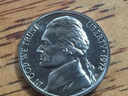 1972 S Jefferson Nickel Proof