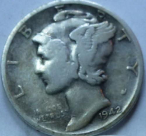 1942-S Very Good Mercury Dime   (4290 )
