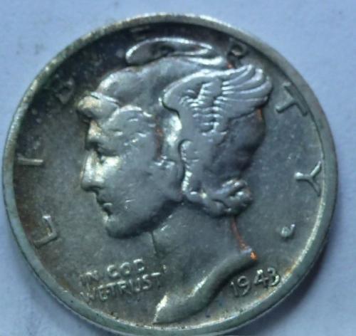 1943-S Very Fine Mercury Dime   (4293 )